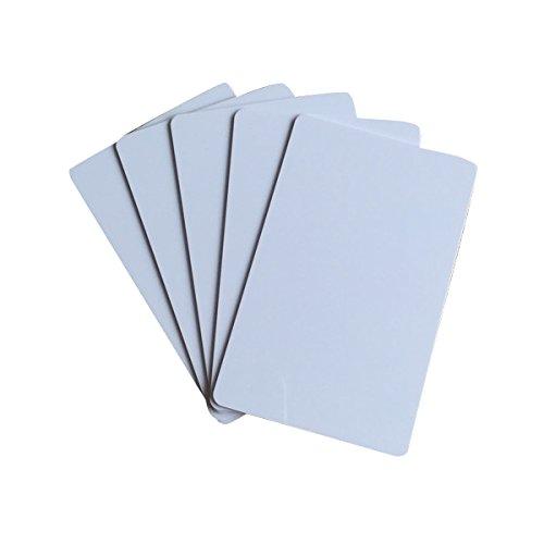 YARONGTECH blanko weiß PVC Inkjet ID Karten Kreditkarte Größe für Epson & Canon kann Print doppelseitig (Packung mit 10 Stück)