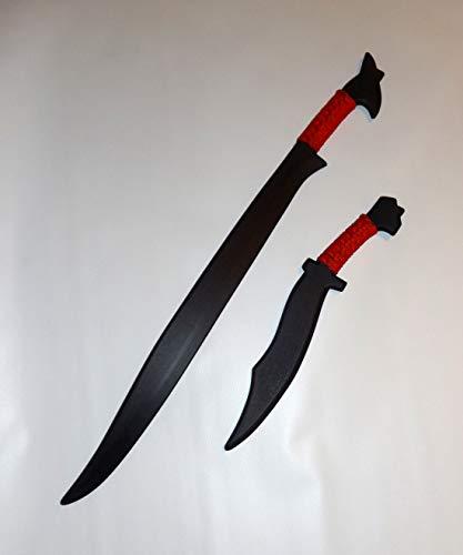 Philippines Pinuti Filipino Kali Bolo Knife Polypropylene Sword Dagger Set