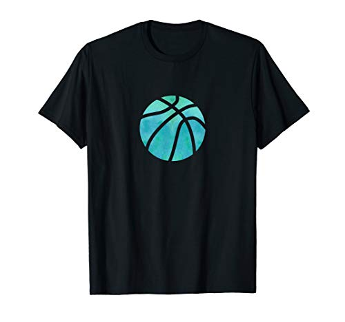 Basketball-aquamarines Aquarell-Geschenk für ein Mädchen T-Shirt