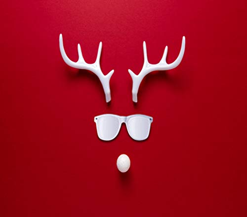 DIY 5D Diamond Painting Numbering Kit Antler Christmas Reindeer Face Sunglasses White Antlers New Year Christmas Lay 16' X 20' Adult Children Rhinestone Cross Stitch Painting Kit for Home Decoration