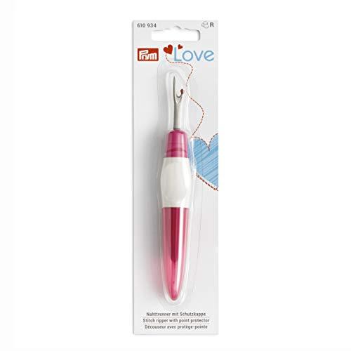 Prym 610934 Love groß Ergonomics Nahttrenner, Stahl, pink/weiß, one size