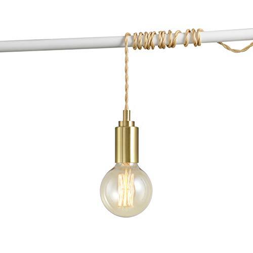Brushed Gold Minimalist Lamp Bulb