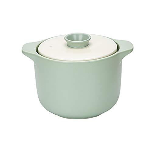Crock Pot Casserole Claypot Reis Suppe Suppentopf Hitzebeständige Haushalt Keramik Doppelabdeckung ( Size : 3L )