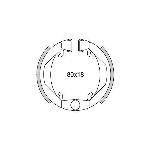 Motodak machoire Frein Cyclo teknix AV/AR Compatible avec 103 SP/MBK 51v/41 Type leleu d.80x18 (pr)
