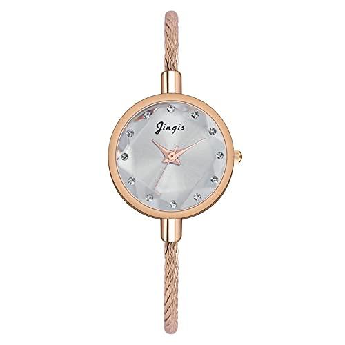 CXJC Reloj de Pulsera de Las Mujeres Coreanas. Color de Caramelo pequeño Fresco Arco Iris Estrella Reloj de Mujer. Reloj Degradado de Las señoras (Color : G)