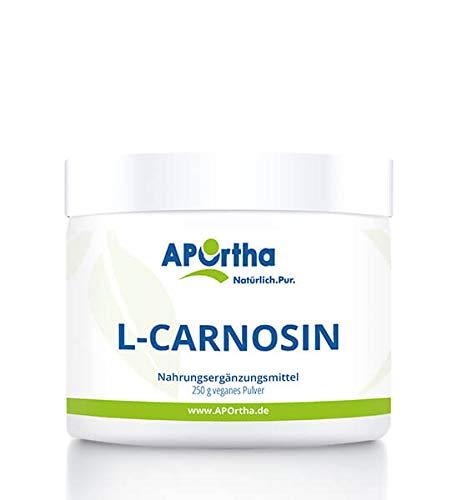 APOrtha L-Carnosin | 250g Dose | veganes Pulver | 100% reines L-Carnosin