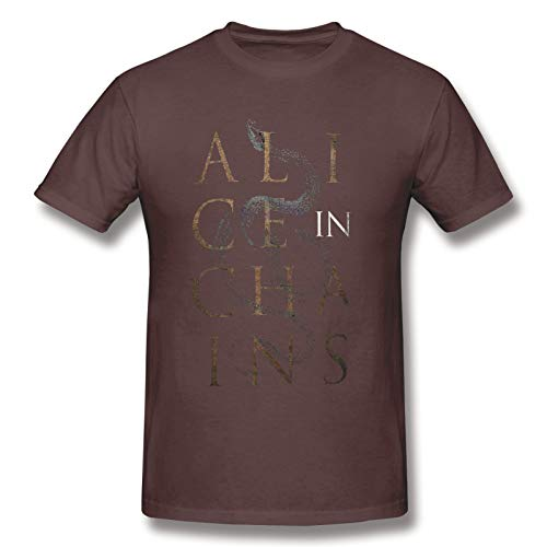 Alice In Chains13 Men's Short Sleeve T-Shirt Graphic Soft tee Coffee XXL