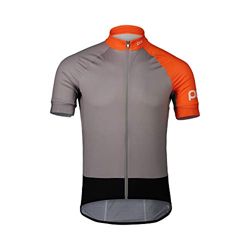 POC Essential Road Trikot Herren Granite Grey/Zink orange Größe XL 2020 Radtrikot kurzärmlig