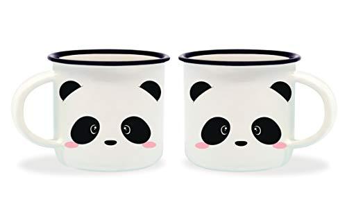 Legami Panda Tazzine da caffè, Bone China, Multicolore, 5.5 x 5.5 x 5 cm, 2 unità