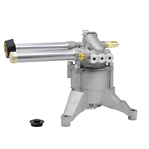 AgiiMan High Pressure Washer Pump Head - Replacement Water Gasoline Pump, 2800 Psi Troy Bilt SRMW22G26-EZ Oil Pump Accssories Fits KARCHER Craftsman, Front Facing Inlet Outlet