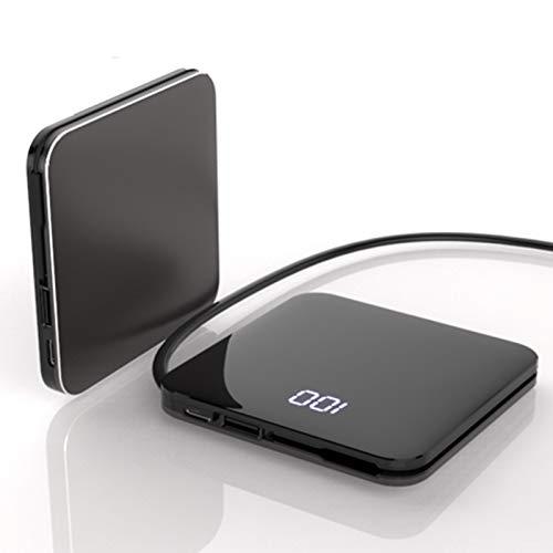 AP.DISHU Mini Batería Externa 20000mAh Power Bank Carga Rápida Cargador Portátil Móvil Ultra Alta Capacidad con Pantalla LCD Digital para Smartphones Tabletas y Más,Negro