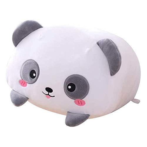 AIXINI 23.6 inch Cute Panda Plush Stuffed Animal Cylindrical Body Pillow,Super Soft Cartoon Hugging Toy Gifts for Bedding, Kids Sleeping Kawaii Pillow
