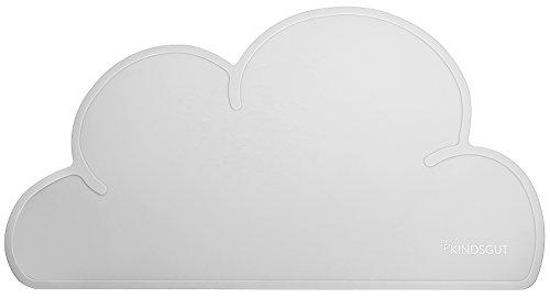 Kindsgut Platzdeckchen Wolke, Tisch-Set, Unterlage in kinderfreundlichem Design und dezenten Farben, frei von BPA, Hellgrau