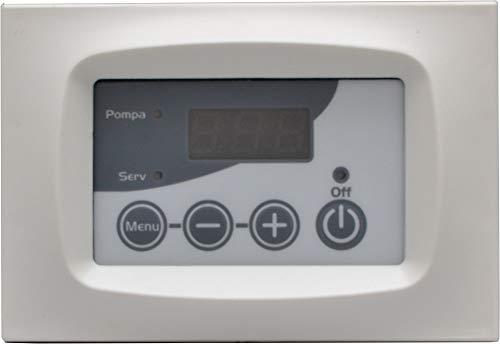 Centralina per termocamini acqua+comando pompa + grill + integrazione caldaia digitale (bianca)