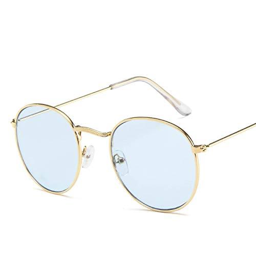 ShSnnwrl Único Gafas de Sol Sunglasses Gafas De Sol Pequeñas Y Redondas para Mujer, Gafas De Sol De Ojo De Aviador para Hombre, M