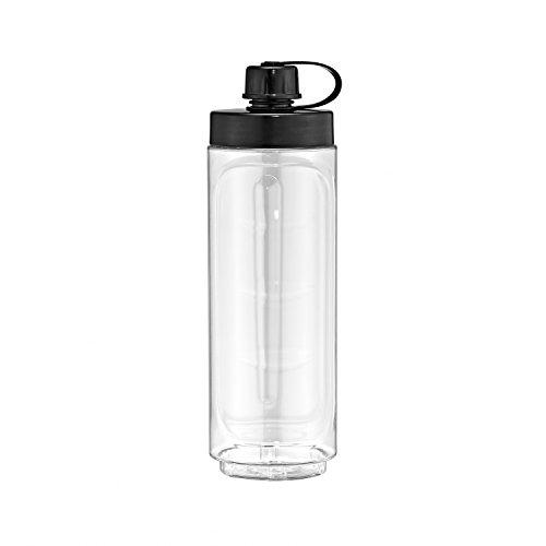 WMF KÜCHENminis Smoothie-to-go Trinkflasche, transparent/schwarz, 0,6 Liter