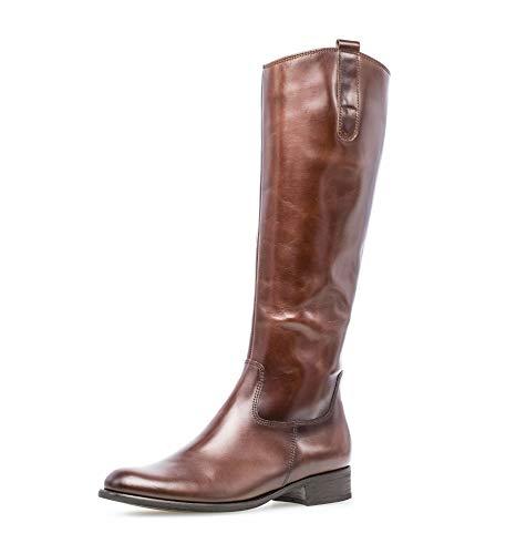 Gabor Damen Stiefel, Frauen Stiefel,Reiterstiefel, langschaftstiefel Boots lederstiefel reißverschluss,Sattel (Effekt),37.5 EU / 4.5 UK