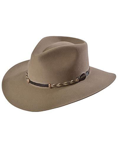 Stetson Men's 4X Drifter Buffalo Felt Pinch Front Cowboy Hat Stone 6 7/8