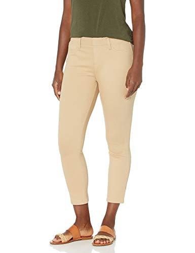 Amazon Essentials Pull-On Knit Capri Jegging Pantaloni, Cachi, XS Lungo