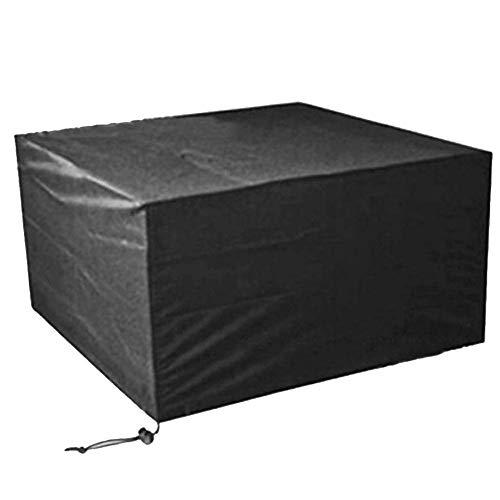 Fundas para Muebles de jardín YYL Mantel Heavy Duty Impermeables Conjuntos de jardín a la Cubierta Cubierta del Patio, Cubiertas terrazas Negro (Color, Negro Dimensiones, 170 x 94 x 70 cm.