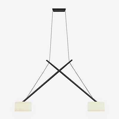 Serien Lighting Twin Pendelleuchte, Schirm Acrylglas, schwarz