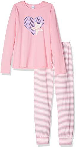 Sanetta Sanetta Mädchen Pyjama Long Zweiteiliger Schlafanzug, Rosa (Scampi 3950), 98 (Herstellergröße: 098)