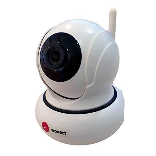 Camara IP WiFi Inalambrica P2P, Vision nocturna infrarroja Alta resolucion Vigilancia seguridad para interior, Compatible Android / IOS, Detección de movimiento. Micrófono altavoz K21
