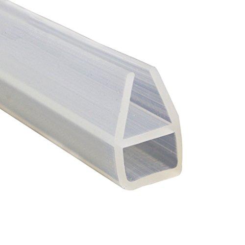 Lvguang Duschdichtung für Glas Wasserabweiser Ersatzdichtung Duschprofil Duschtürdichtung Lippe U-Form (500 * 0.6 cm)