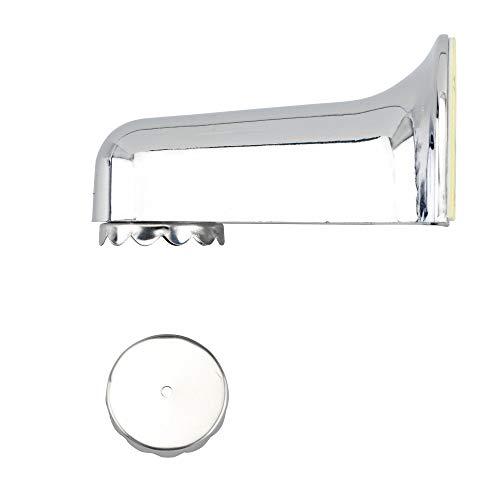 WENKO Magnet-Seifenhalter Blister, hochwertige Seifenablage für die Wand, Befestigen ohne bohren mit Klebepad, sicherer Halt, umweltfreundlich & sparsam, aus Kunststoff, 4,5 x 4 x 7 cm, Verschromt