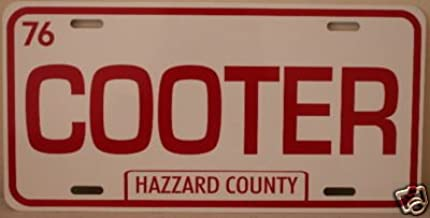 DUKES of HAZZARD COUNTY COOTER METAL LICENSE PLATE TAG 6 X 12 TOWING BO LUKE DAISY Fan Redneck Southern Rebel South Moonshine Nascar COLLECTION MUSEUM GIFT NOVELTY SIGN GARAGE MAN CAVE SHOP BARCLASSIC