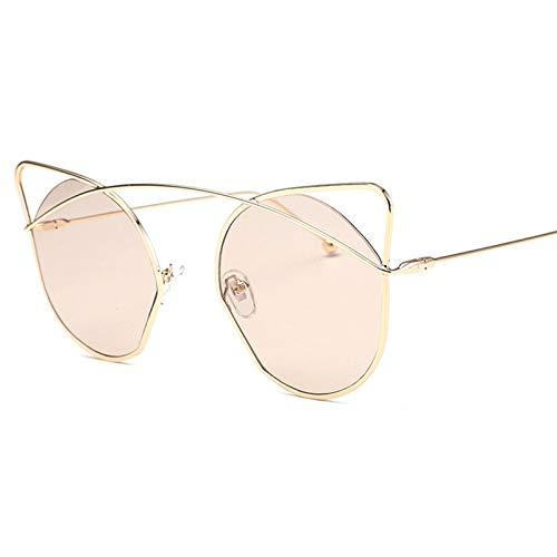 Epinki Damen Polarisiert Sonnenbrille Katze Retro Brille UV400 Schutz   Vollrand   für Alltag, Party, Fahren - Transparent Rose