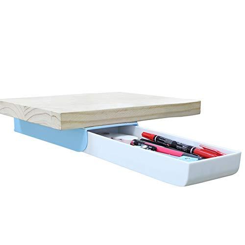 Creative Pencil Case, Large Capacity Drawer Pen Box Press Pop-Up Student Storage Multi-Function Personalised Paste Tibetan Table Bottom Pen Holder Organizer for Office School Home Desk (Sky Blue)