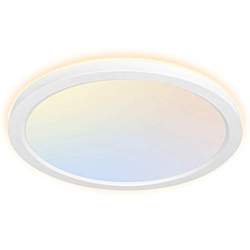 13 Inch Selectable CCT LED Flush Mount Ceiling Light With Night Light, 24W,...