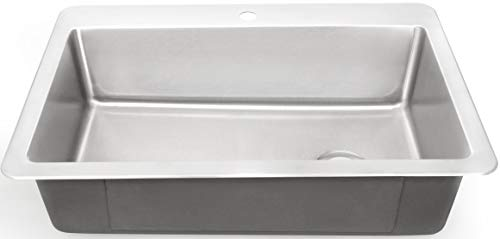 ZUHNE 16G Drop In Offset Drain Stainless Steel Kitchen Sink...