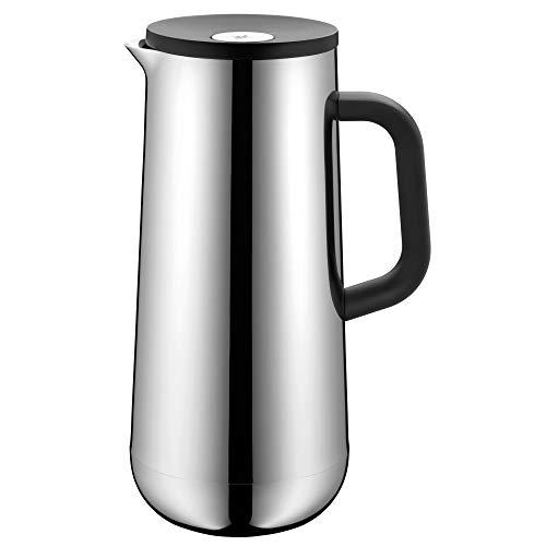 WMF Impulse Thermoskanne Edelstahl 1l, Isolierkanne für Kaffee oder Tee, Cromargan, Druckverschluss, hält Getränke 24h kalt & warm