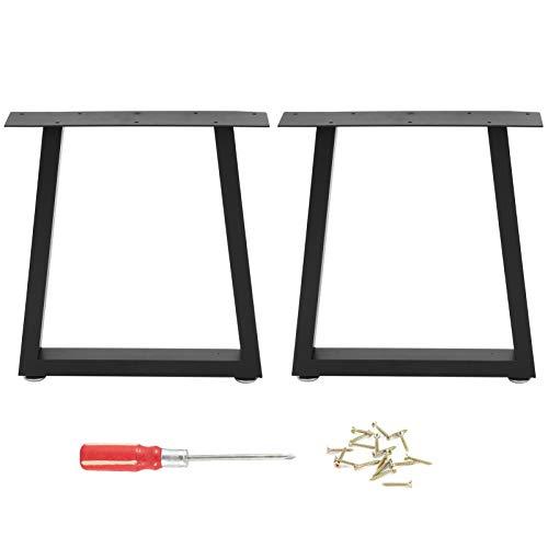 Wakects - Patas de mesa modernas de hierro forjado para muebles, 2 conjuntos de patas de mesa de metal, adecuadas para mesas bajas personalizadas, mesas auxiliares (S)