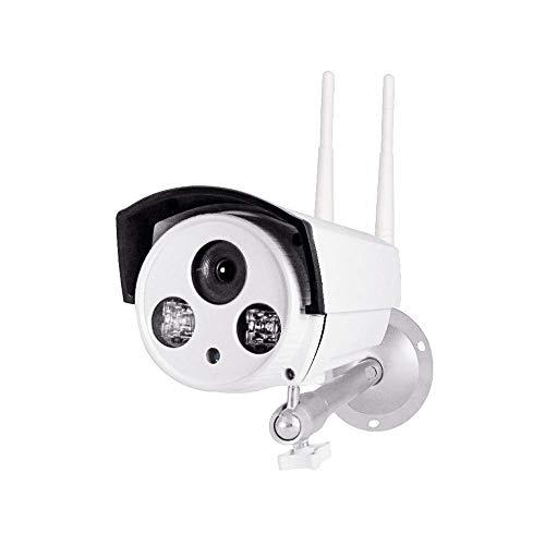 QCHEA Caméra réseau sans Fil, caméra de sécurité WiFi 720P HD, for extérieur, intérieur, avec Applications, Connexion au réseau Local, IP66, Vision Nocturne, détection de Mouvement, Carte SD