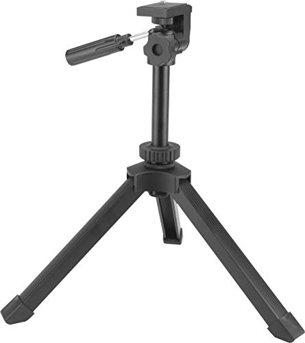 BARSKA AF13270 Heavy Duty Table Top Tripod for Cameras, Binoculars, Spotting Scopes, and More, Black, One Size