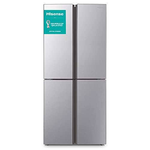 Hisense RQ515N4AC2 Cross Door Kühl-Gefrierkombination/ NoFrostPlus/ Inverter-Kompressor/ Multiflow 360°/ SuperCool/ 181,7 cm/ Kühlteil 278 l/ Gefrierteil 149 l/ 42 dB/ 293 kWh/ Jahr/ Inox-Look