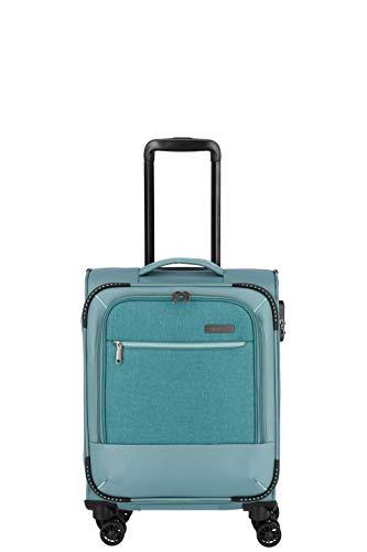 """Travelite Reisegepäck-Serie """"ARONA"""" attraktive Trolleys und Bordtaschen in 3 Farben Koffer, 55 cm, 33 L, Aqua"""
