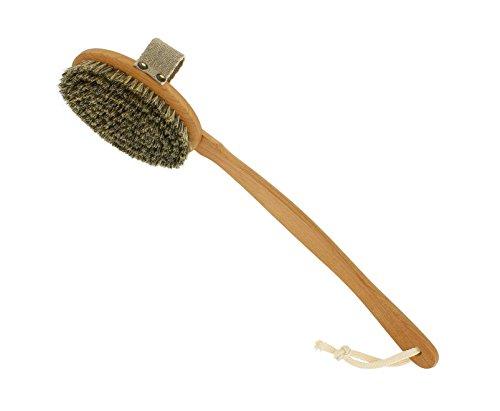 riffi Saunabürste FSC zertifiziert I Massagebürste mit abnehmbaren Griff I Körperbürste mit...