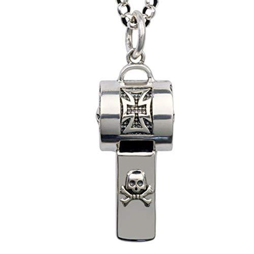 925 Sterling Silver echte werk fluiten hanger voor mannen, Portable sleutelhanger Ketting Whistle for Life Saving, wandelen, kamperen, en Pet Training