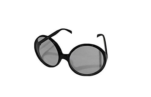 Forum Novelties Big Round Eye Glasses - Black