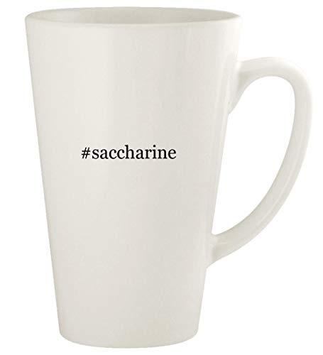 #saccharine - 17oz Hashtag Ceramic Latte Coffee Mug Cup, White