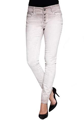 Coccara Damen Jeans Hose Curly New Women's Denim CN116706, Cn307 - Beige Snake, 30