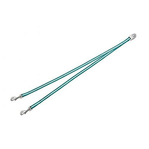 flexi Roll-Leinen-Zubehör Vario Duo Belt S türkis (für flexi Vario Leinen Gr. S) Koppelgurt für 2 Hunde bis max. Gesamtgewicht 10 kg