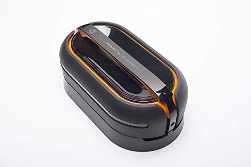 Moneual Everybot RS700 Dual Spin Wischroboter mit Ladestation CRD700 - Hinderniserkennung, Feucht- und Trockenreinigung, Schwarz/Orange
