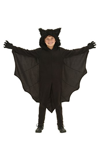 Kid's Fleece Bat Costume Child Fuzzy Flying Bat Costume Large