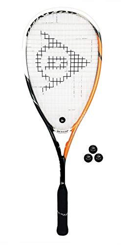 Dunlop Squashschläger C-Max Titanium mit drei Squash-Bällen