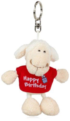 Nici 32322 - Schaf weiß T-Shirt Bean Bag Schlüsselanhänger Happy Birthday rot